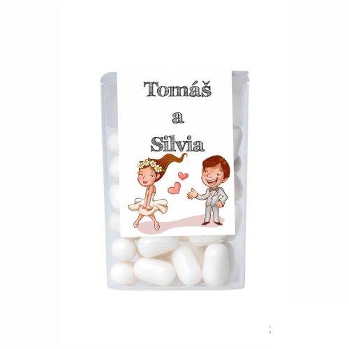 Dražé cukríky pre potešenie svadobných hostí DC143