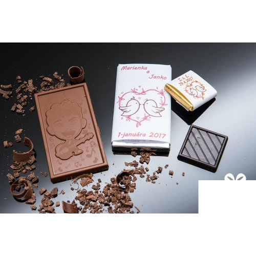 Svadobná mini čokoládka SMC22