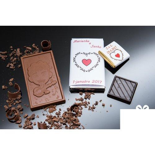 Svadobná mini čokoládka SMC37