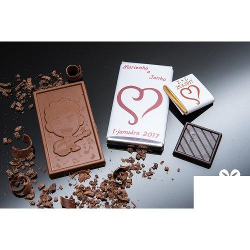 Svadobná mini čokoládka SMC55