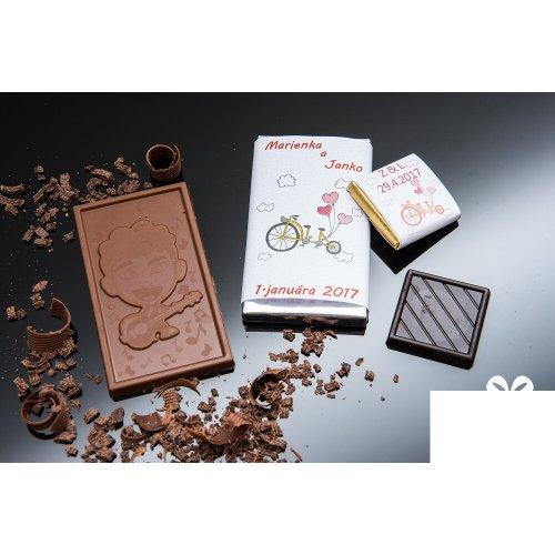 Svadobná mini čokoládka SMC68