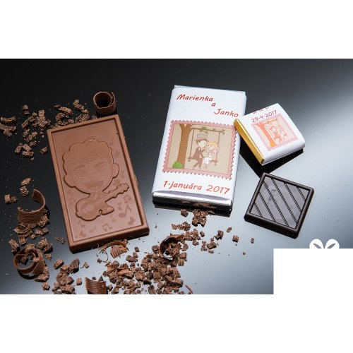 Svadobná mini čokoládka SMC74