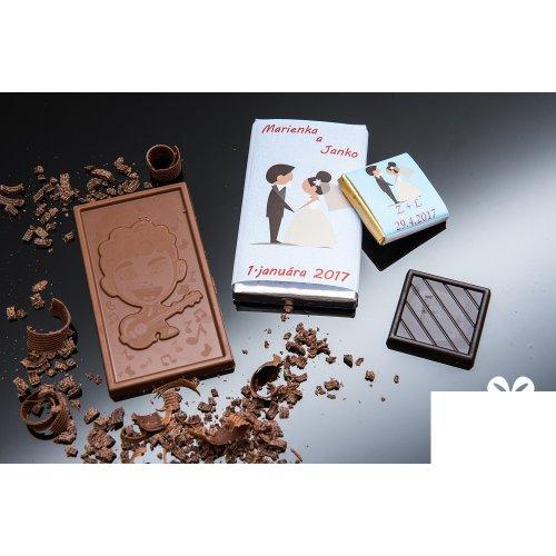 Svadobná mini čokoládka SMC154