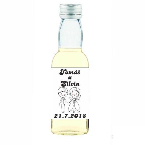 Svadobná fľaštička s alkoholom 40 ml SF27