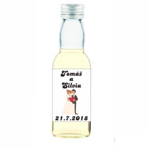 Svadobná fľaštička s alkoholom 40 ml SF71