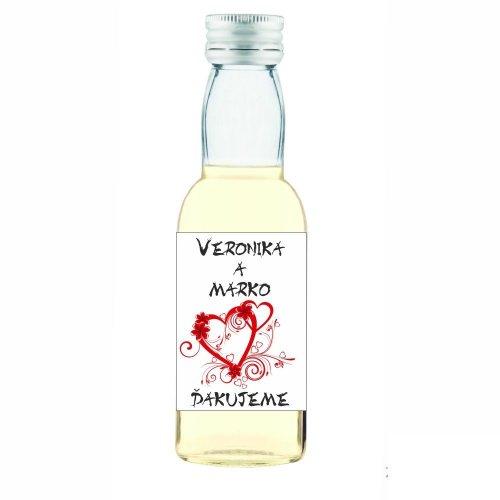 Svadobná fľaštička s alkoholom 40 ml SF111