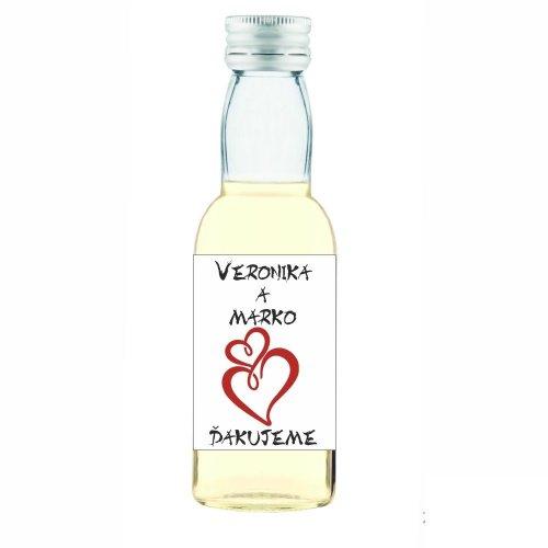 Svadobná fľaštička s alkoholom 40 ml SF140