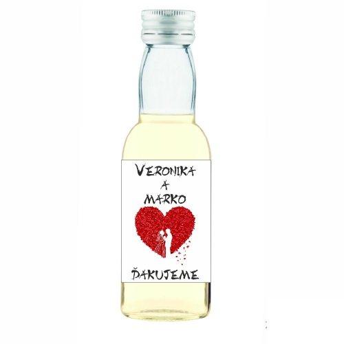 Svadobná fľaštička s alkoholom 40 ml SF162