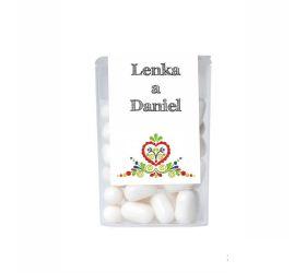 Dražé cukríky pre potešenie svadobných hostí DC250