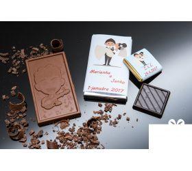 Svadobná mini čokoládka SMC02