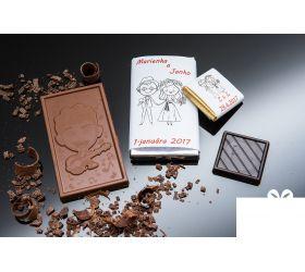 Svadobná mini čokoládka SMC05