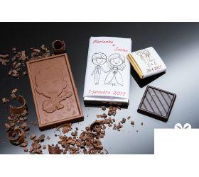 Svadobná mini čokoládka SMC08