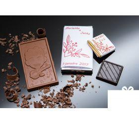 Svadobná mini čokoládka SMC11