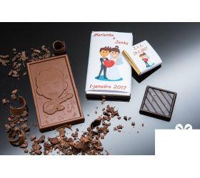 Svadobná mini čokoládka SMC13